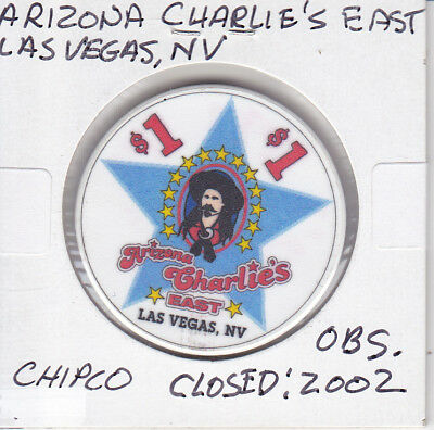Casino Chip Token $1 Arizona Charlie's East - Las Vegas, Nv Closed 2002 Obsolete