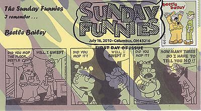 2010 First Day Cover Fdc Sunday Funnies Beatle Bailey By James Frankiwicz-Mal