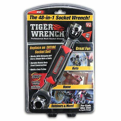 ONTEL Tiger Wrench 48 Tools In One Socket | Works with Spline Bolts, 6-Point, or