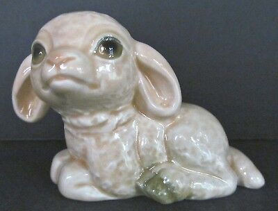 Spring 005 Goebel Baby Lamb 32048 Sitting Left West Germany Vintage 1986