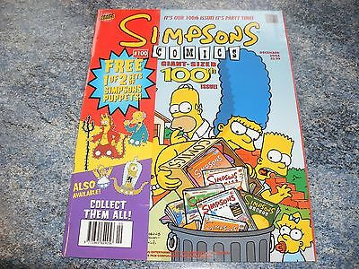 The Simpsons 100th Giant Sized Issue Comic 100 Complete With Simpson Puppets