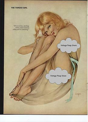 Vargas Playboy Feb 1978 Beautiful Blonde in a sheer wrap on the phone 8x11