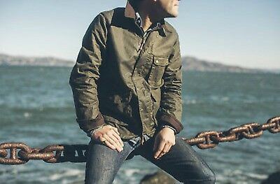 Taylor Stitch Rover Dark Olive Waxed Canvas Jacket - Size 42 (L) - like Barbour
