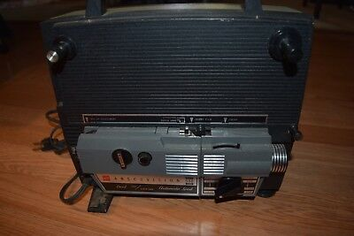 GAF Anscovision 588 Zoom Lens Projector Dual & Super 8mm Working with Bulb