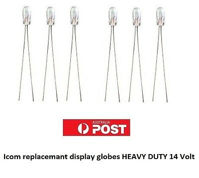 Icom Display Bulbs Lamps  Pack of 6 LONG LIFE 14 volt NOT EASY BLOW 12V