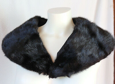Vintage HALSTON USA Mink Fur Collars Black  Lot of 5 NOS