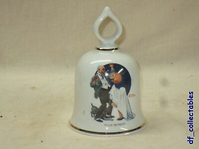 NEW    Norman Rockwell Trick or Treat bell - The Danbury mint