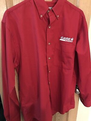 Case IH button down Men's Long Sleeve AUTHENTIC Work Shirt Small s dealership