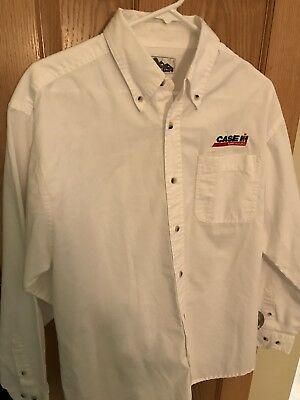 Case IH button down Men's Long Sleeve AUTHENTIC DEALERSHIP Work Shirt Medium M