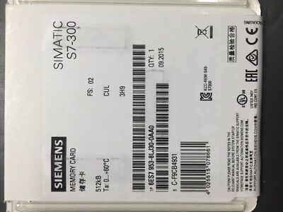Siemens 512Kb Plc Memory Card For The S7-300 And Other Siemens Plc Platforms