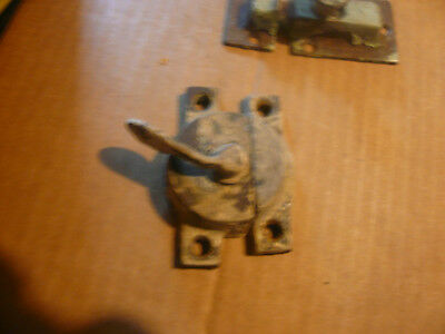 Antique Cast Iron Window Sash Latch Early Vintage Lock