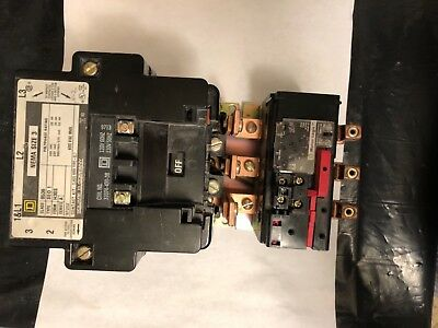 Square D Nema Size 3 Starter with Motor Logic Overload with 120 V Coil