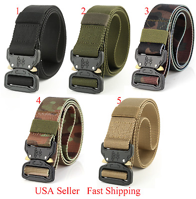 Tactical Heavy Duty US Soldier Mens SWAT Military Belt Combat Army 5 colors OB