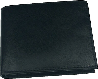 Genuine Mens Leather Slim Wallet Credit Card Holder Bifold