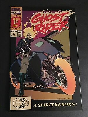 Ghost Rider #1 Marvel 1990 1St App. Of Deathwatch 9.8 Nm-Mt White Pages
