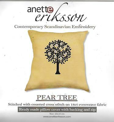Anette Eriksson  pear tree Scandinavian embroidery kit cushion 40x40cm 18ct