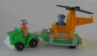 Vintage Fisher Price Little People #344 Little Truck Rigs - Copter Rig Complete