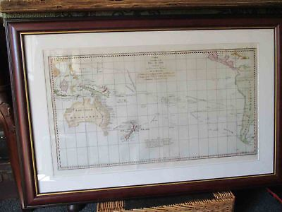 Antique map of the South Pacific.1774