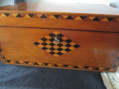 Beautiful Inlaid Vintage/Antique Writing Slope (needs TLC see description)