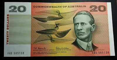$20 1966 Commonwealth Of Australia Coombs/Wilson Paper Note a/UNC R401