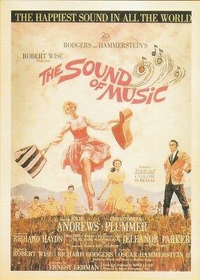 VINTAGE MOVIE POSTER REPRO POSTCARD : THE SOUND OF MUSIC Julie Andrews