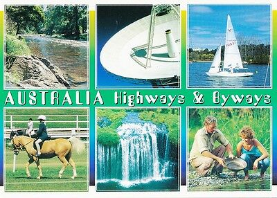 AUSTRALIAN MULTI-VIEW COLOUR POSTCARD Highways and Byways - Country Scenes