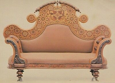 APPLIED ARTS & SCIENCES SYDNEY (Powerhouse Museum) Marquetry Sofa POSTCARD