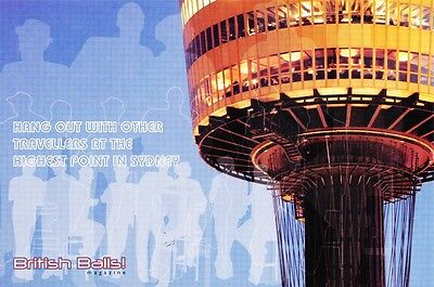 AUSTRALIAN ADVERTISING POSTCARD Sydney Tower - British Balls Magazine