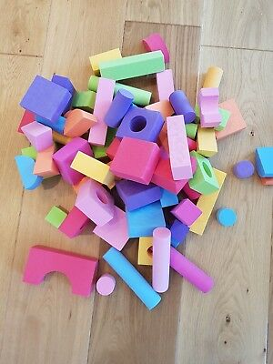 60 x foam building blocks and shapes