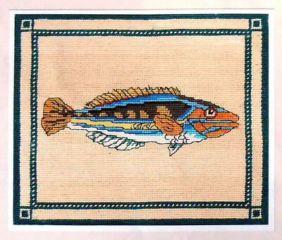 Colourful Fish in blue hues - Anchor tapestry kit to do