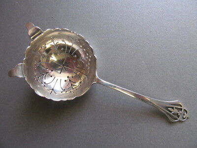 Silver Tea Strainer In Superb Condition - Sheffield 1959