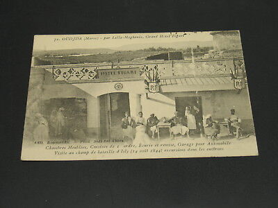 Morocco 1908 Oudjda picture postcard to France *23315