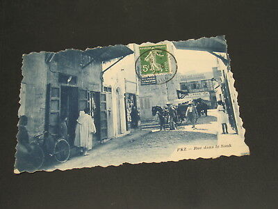 Morocco 1921 Fez picture postcard to Hungary *23167