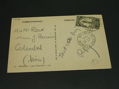 Morocco 1932 Meknes picture postcard to France *23235
