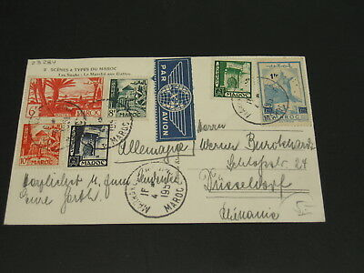 Morocco 1951 picture postcard to Germany *23234