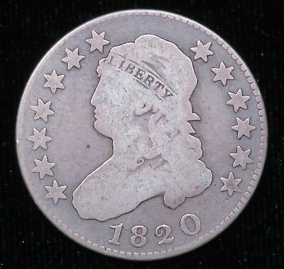 1820 Capped Bust Quarter Silver 25C