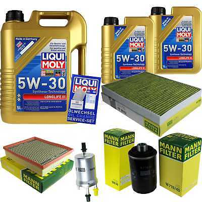 Packet Inspection 7 L Liqui Moly Longlife III 5W-30+ Man Filter Package 9838546