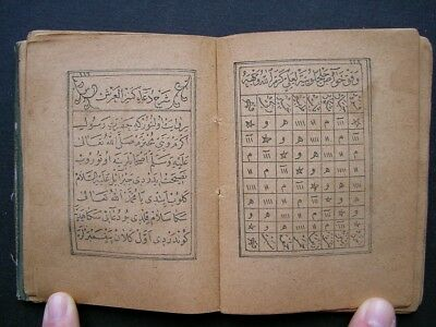 Ottoman Turkish Islamic Old Printed Arabic Havass Talisman A.h 1324 A.d 1906
