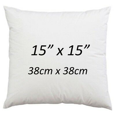 15 x 15 Inch Cushion Inner Pads Hollowfibre Non Allergic Cushion Inserts 15 Inch