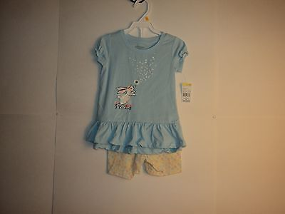 Toughskins Girl Toddler Size 2T Short Set NWT