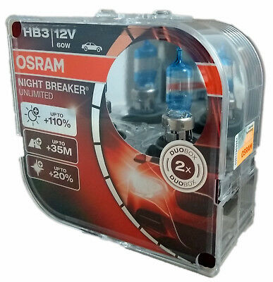 HB3 OSRAM NIGHT BREAKER UNLIMITED 12V 60W 9005NBU Duo Box