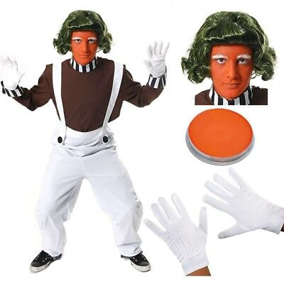 Menu0027s Adult Oompa Loompa Chocolate Factory Worker Costume Character Fancy Dress  sc 1 st  PicClick UK & MENu0027S ADULT OOMPA Loompa Chocolate Factory Worker Costume Character ...