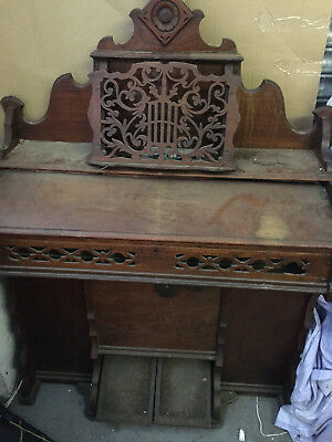 An old pedal organ with original hp agreement dated 1897 keyboard
