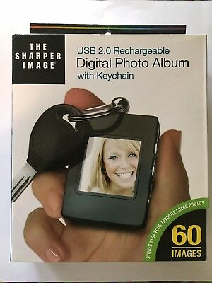 USB 2.0 Rechargeable Digital Photo Album with Keychain by The Sharper Image