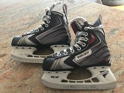 BAUER VAPOR X60 Ice Hockey Skates Youth US 1.5 Canadian 13.5 with Skate Guards