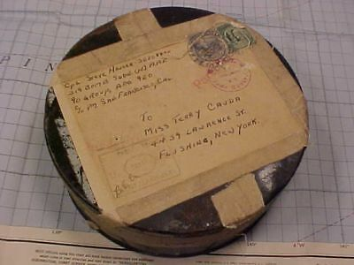 Original Wwii 319Th Bomb Sqdn, 90Th Bomb Group Souvenir Mailed Film Cannister