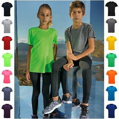 Kids Child Sports T-Shirt Short Sleeve Top Tee Breathable Running Gym PE T Shirt