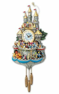 Bradford Exchange - Disney Timeless Magic Wall Cuckoo Clock With 43 Friends