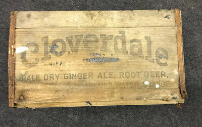 Cloverdale Pale Dry Ginger Ale Wood Advertising Crate  Newville, PA