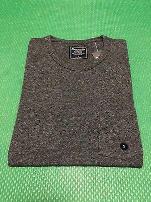 9d2e8d13 NWT Abercrombie & Fitch Men's Slim Muscle Fit Tee Round-Neck Pocket T-Shirt